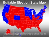 editable election results map - powerpoint backgrounds