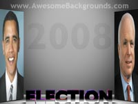 elections 2008 - powerpoint backgrounds