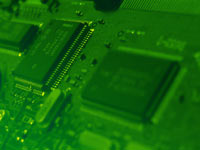 electronics industry circuit board - powerpoint backgrounds