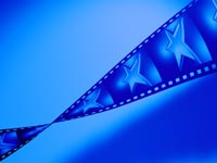 stars on a film strip - powerpoint backgrounds
