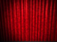 static curtains - powerpoint slide background