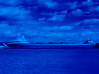 shipping industry - lake liner - powerpoint backgrounds